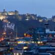 Edinburgh Cityscape Panorama — Stock Photo