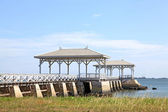 Royal pavillion on jetty pier — Photo