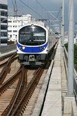 Blue sky train — Stock Photo