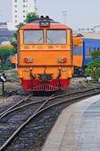 Diesel locomotive train — Stock Photo