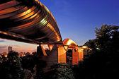 Singapore wavw bridge — Stock Photo