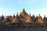 Ruína de estupa templo borobudur — Fotografia Stock