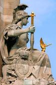 Statue at alexander bridge Paris — Stock Photo