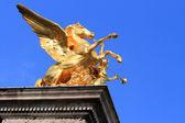 Golden Horse statue Paris — Stock Photo