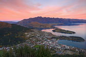 Landscape of queenstown region in dusk , New Zealand — Stock Photo