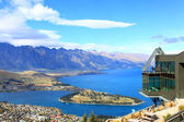 Queenstown downtown with the remarkable range — Stock Photo