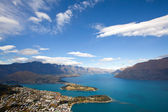Queenstown with lake Wakatipu — Stock Photo