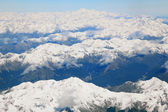 Landscape of southern alpine alps with Mount cook peak from top — Stock Photo