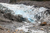 Fox glacier in New Zealand — 图库照片