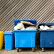 Large wheelie bins - Stock Photo