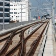 Stock Photo: Railway track on sky train