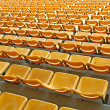 Yellow seat stadium — Stock Photo
