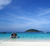 Similan Beach Island Number 4 ,Paradise island located at south — Stockfoto