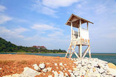 Guard Tower at beach — Stock Photo