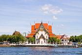Wat Rakang, Thai Temple on the River. — Stock Photo