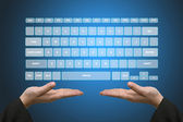 Virtual Keyboard Interface — Stock Photo