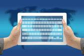 Technology Virtual Keyboard Interface — Stock Photo