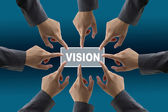 Vision von diversen business-team — Stockfoto