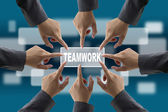 Diverse business teamwork — Stock Photo