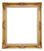 Isolated blank classic photo frame — Stock Photo