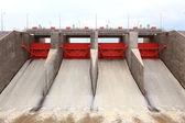 Water gates dam — Stockfoto