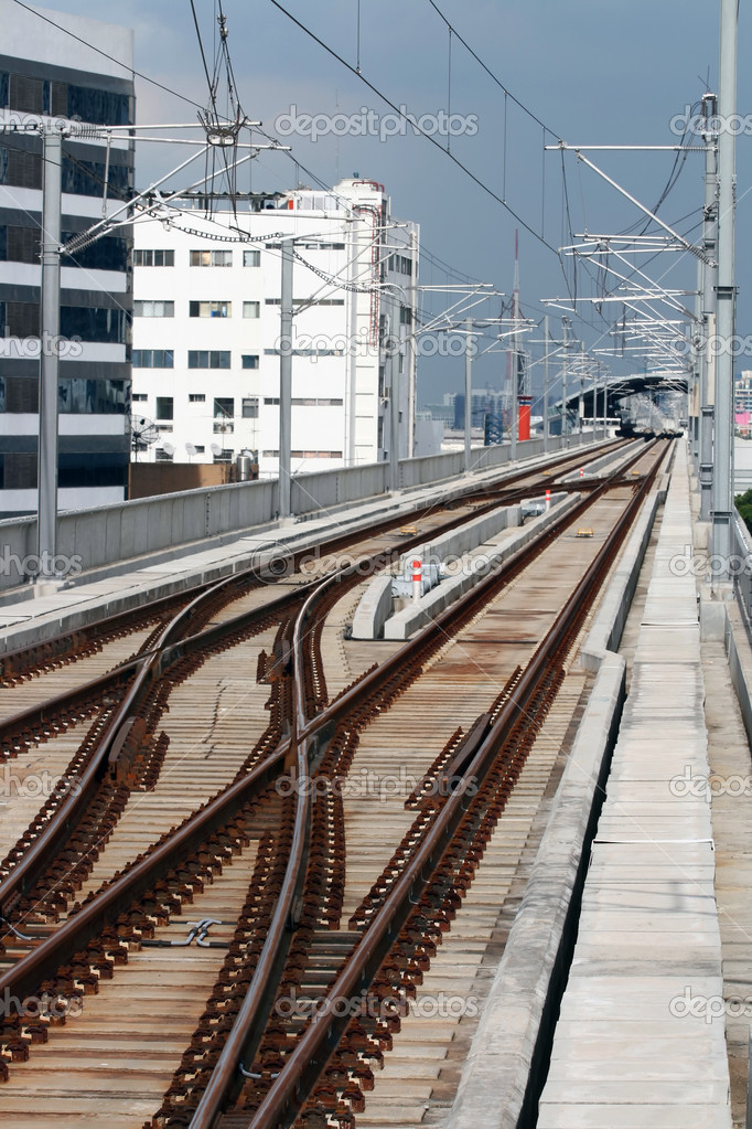 Railway track on sky train — Stock Photo #11219757