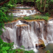 Huay Mae Khamin Waterfall, Paradise waterfall in Tropical rain forest of Thailand — Stock Photo