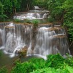 Tropical rainforest waterfall — Stock Photo