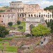 Colosseum from roman forum — Stock Photo #11220152