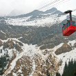 Red cable car Switzerland — Stock Photo #11220210