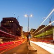 London Cityscape Road Light Trail — Stock Photo