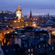 Edinburgh Cityscape Dusk — Stock Photo