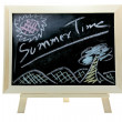 Summer time blackboard - Stock Photo