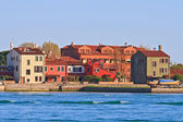 Residence zone in Lido Island Venice Italy — Stock Photo