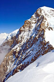 Part of The Swiss Alpine Alps at Jungfraujoch in Interlaken Switzerland, Vertical — Stock Photo