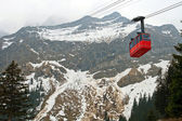 Red cable car Switzerland — Stock Photo