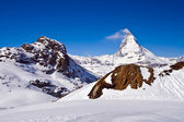 Matterhorn peak Alp Switzerland — Stock Photo