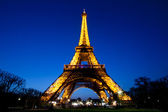 Eiffel tower night — Stock Photo