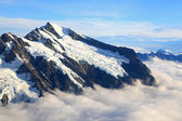 Mount cook with sea of mist — Foto Stock