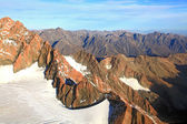 Alpine alps from Mount cook in New Zealand — Stock Photo