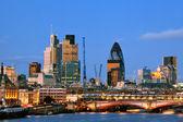 Londyn wieżowce o zmierzchu — Zdjęcie stockowe