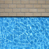Traditional stone pavement with pool edge background — Stock Photo