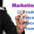 Marketing mix — Lizenzfreies Foto