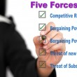 Stok fotoğraf: Five forces business list
