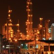 Stock Photo: Petrochemical oil refinery plant