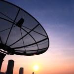 Antenna communication satellite dish — Stock Photo