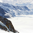 Great Aletsch Glacier Switzerland — Stock Photo