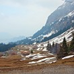 Landscape of Pilatus mountain in Lucern Switzerland — Stock Photo