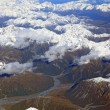 Landscape of southern alpine alps from top view — Stock Photo #11239672