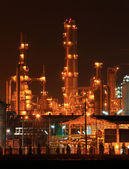 Petrochemické ropné rafinerie rostlina — Stock fotografie